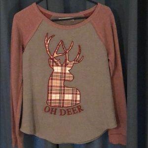 """Oh Deer"" long sleeve shirt"